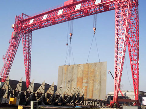 shipyard gantry crane with truss structure sale