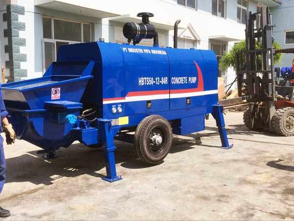 HBT50R mobile concrete pump